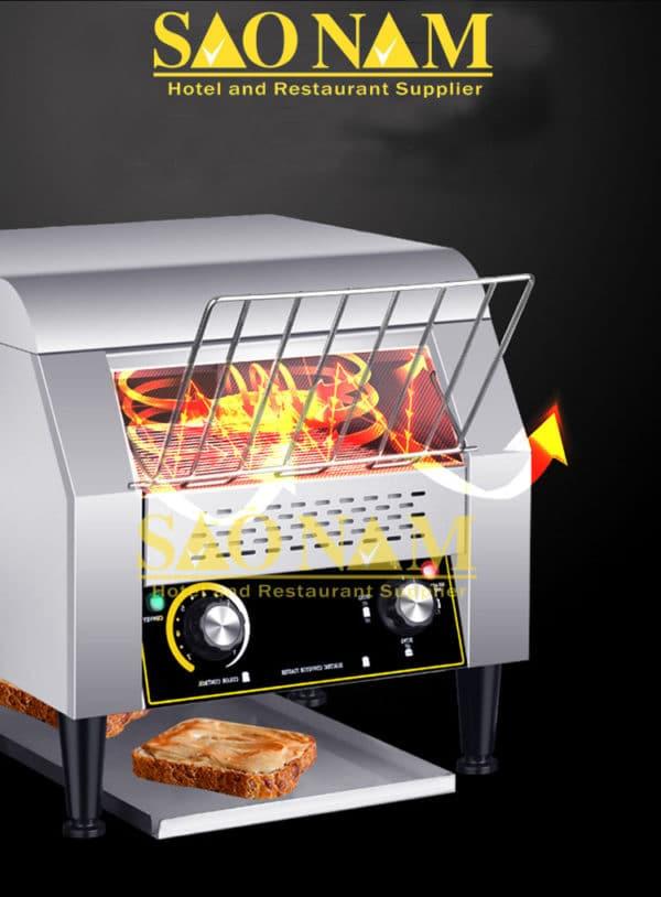 máy nướng bánh mì băng chuyển